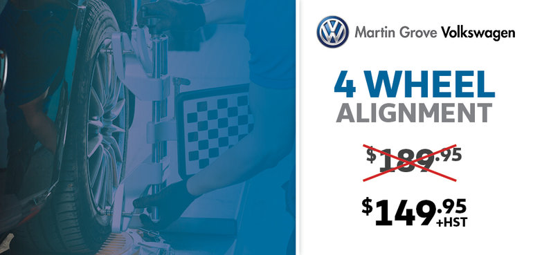 Martin Grove Volkswagen 4 Wheel Alignment Offer